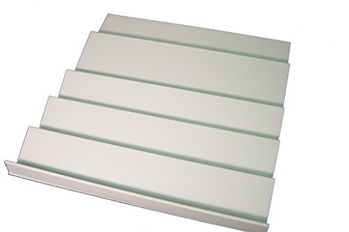 """Wide Spice Rack Insert for Drawers (White) (1""""h x 16""""w x 21""""L)"""