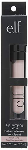 e.l.f. Cosmetics Lip Plumping Gloss, Shimmering Gloss Hydrates and Plumps Lips, Pink Cosmo