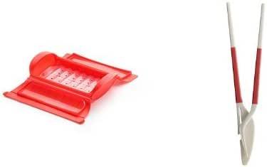 Lekue - Estuche de vapor, Estuche con bandeja, 1-2 personas + Cubiertos, Rojo, 1 - 2 personas (650 ml): Amazon.es: Hogar