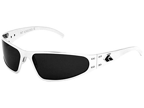 Gatorz Eyewear, Wraptor Model, Aluminum Frame Sunglasses - Polish/Smoked Polarized Lens ()