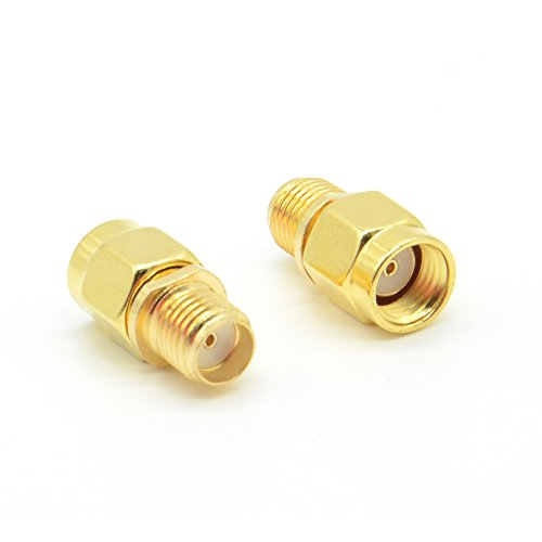rf-design-sma-female-to-rp-sma-male-2-pieces-coaxial-coax-adapter-coupling-nut-connector-golden