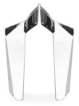 (National Cycle Lower Deflectors Chrome for Honda Shadow KAW)