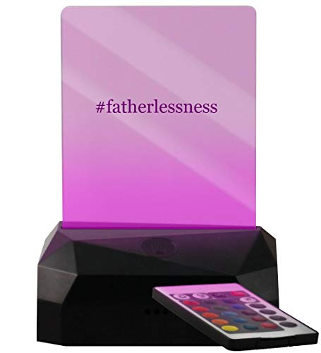 #Fatherlessness - Hashtag LED USB Rechargeable Edge Lit Sign