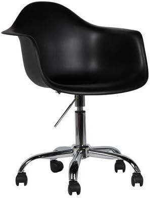 lo+demoda Pring Silla de Oficina, Acero, Negro, 80x62.5x5 cm ...
