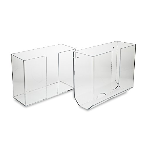 Source One LLC Deluxe Clear Acrylic Dual-Dispensing Paper Towel Holder Wall Mount & Counter Top Options Available (1, Wall Mount) (Tissue Dispenser Plastic)
