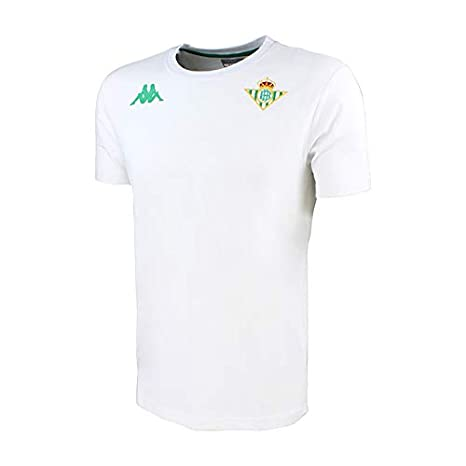 Camiseta de algodón de manga corta - Real Betis Balompié 2018/2019 - Kappa Zoshim Tee - Blanca - Niño: Amazon.es: Deportes y aire libre