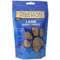 THE REAL MEAT COMPANY 828011 Dog Jerky Lamb Treat, 4-Ounce
