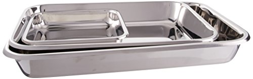 Hammer Stahl 3 Piece Rectangular Bake Pan Set, Stainless Steel by Hammer Stahl