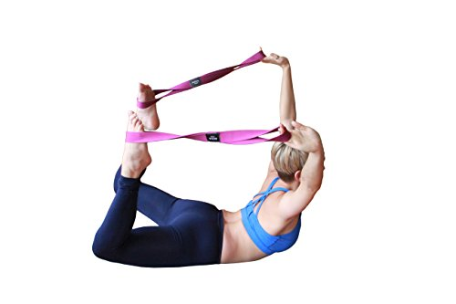 AVIVA YOGA Number 8 Straps - Set of 2 Premium Quality Props to Improve Your Range of Motion in Yoga Dancing Sports Conditioning / Training or Fitness Workouts (Jungle Green 25 inches)