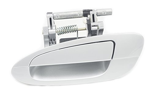 Sentinel Parts Rear Left Driver Side Outside Exterior Door Handle KY1 Light Silver Metallic for 2002-2006 Nissan Altima