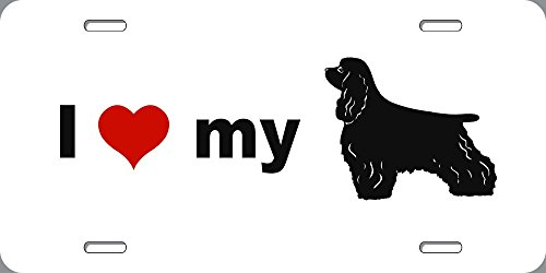 - BuildASign I Love My Cocker Spaniel Novelty Dog License Plate - 6