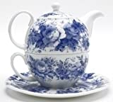 individual teapot and cup - Roy Kirkham English Chintz Teapot for One