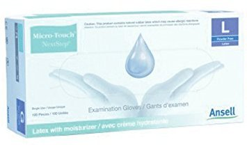 Ansell Micro-Touch Next Step Powder-Free Latex Examination Gloves Size XS #3200 - 100/Box by Ansell by Ansell Perry