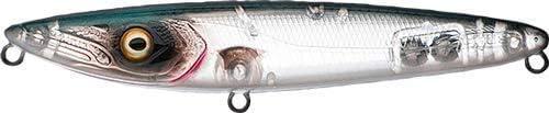 TA Fishus Lurenzo Espetit Leurres durs flottants WTD Topwater Taille Translucide Anc//Hochet 95 mm//10,5 g Couleur