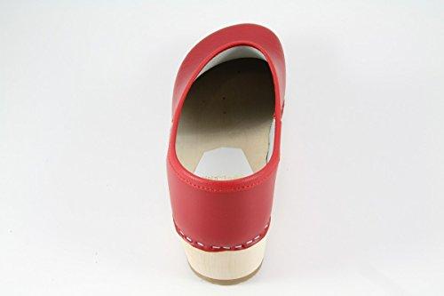 Design Con Naturholzsohle Rosso Fatte Scarpe Danese w0dxT6qqP
