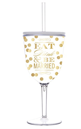 Amazoncom Bride Wine Cup Eat Drink And Be Married Acrylic Wine