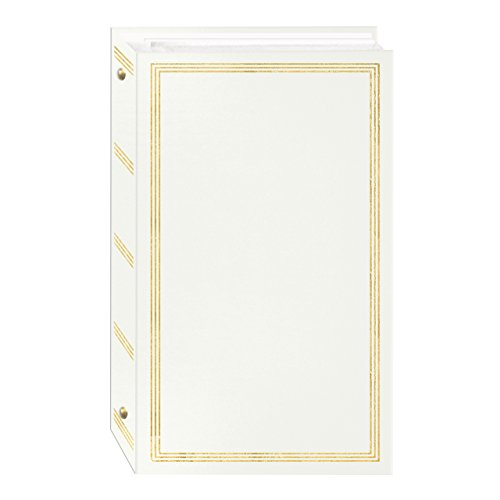 3-Ring Photo Album 300 Pockets Hold 4x6 Photos, White