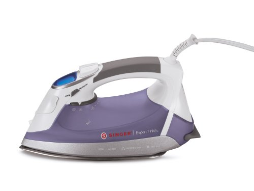 037431883629 - SINGER Expert Finish 1700 Watt Anti-Drip Steam Iron with Brushed Stainless Steel Soleplate, LCD Electronic Settings and Smart Auto-Off carousel main 0
