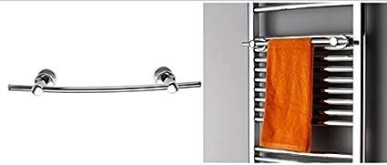 Handtuchhalter:Mit Handtuchhalter gebogen Mittelanschlussgarnitur:Mit Mittelanschlussgarnitur Badheizk/örper Handtuchw/ärmer Chrom gebogen R20C Gr/ö/ße:1500x500mm