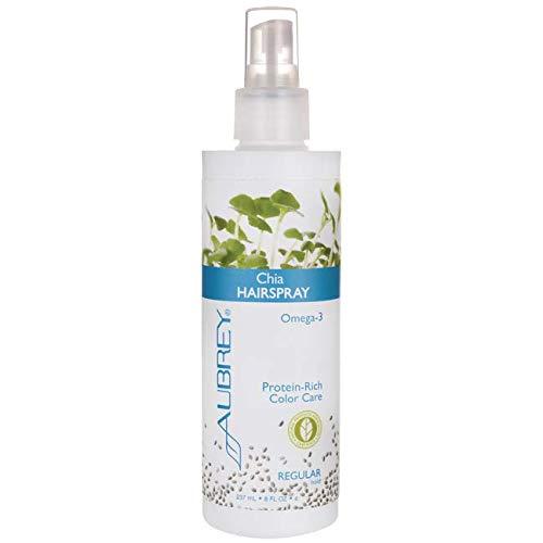 Chia Hairspray Regular Hold Aubrey Organics 8 oz Liquid