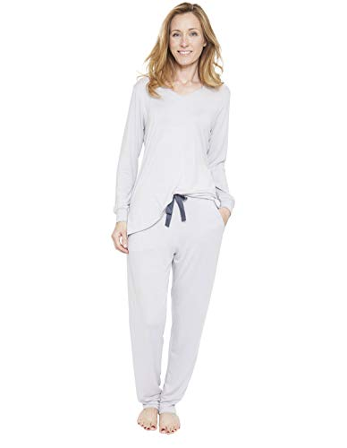 Cyberjammies 1306 Women's Nora Rose Ivy Stone Grey Pyjama Set