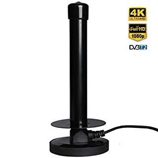 Updated High Gain Free to Air TV Antenna - Portable Indoor/Outdoor Digital Aerial for USB TV Tuner/Digital Television/DAB Radio - with Magnetic Base (DTA250)