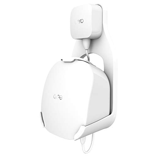 Wall Mount Holder for eero mesh WiFi System, The Simplest Wall Mount Holder Stand Bracket for eero mesh WiFi System Router No Messy Screws! (White(1 Pack))