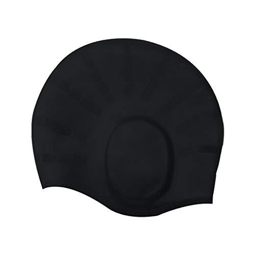 Adult Swimming Cap,Ear Protection Swim Cap Durable Elastic Silicone Pool Beach Swim Head Hat Waterproof