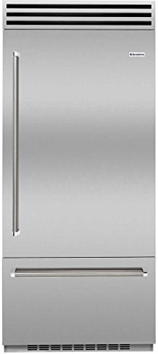 Price comparison product image BlueStar BBB36R2, 36 Inch Counter Depth Bottom Freezer Refrigerator with 22.4 cu. ft. Total Capacity, 3 Glass Shelves, Crisper Drawer, Right Hinge, Automatic Defrost, Ice Maker, in Stainless Steel