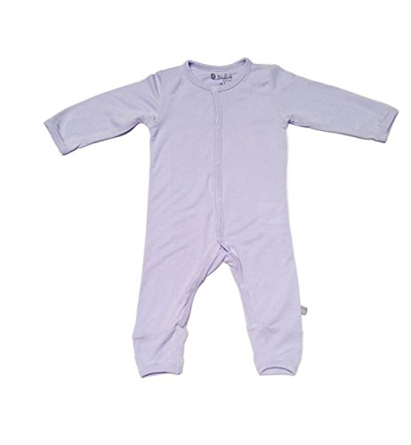 Kyte BABY Rompers - Baby Footless Coveralls Made Of Soft Organic Bamboo Material - 0-24 Months (0-3 Months, Lilac)