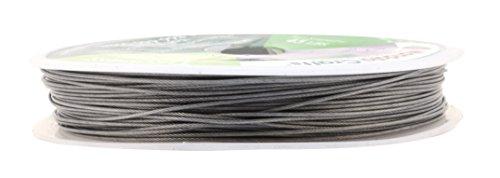 Mandala Crafts Nylon Stainless Steel 18 20 21 22 24 25 Gauge 49 Strand Soft Flexible Jewelry Making Beading Wire (0.7MM 98FT)