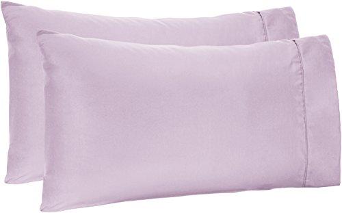 AmazonBasics Microfiber Pillowcases - 2-Pack, Standard, Frosted Lavender