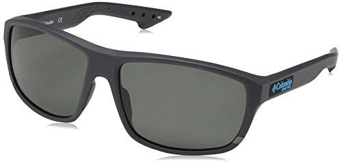 (Columbia Men's Airgill Lite Polarized Oval Sunglasses, Matte Shark, 60 mm)