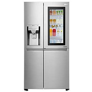 LG 668 L InstaView Door-in-Door Wi-Fi Inverter Side-by-Side Refrigerator (GC-X247CSAV, Noble Steel)