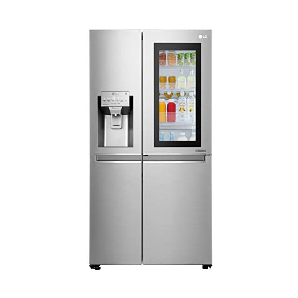 LG 668 L InstaView Door-in-Door Wi-Fi Inverter Side-by-Side Refrigerator (GC-X247CSAV, Noble Steel) 2021 July Side by Side Frost Free Refrigerator Capacity 668 L: Suitable for families with 5 or more members Warranty: 1 year on product, 10 years on compressor
