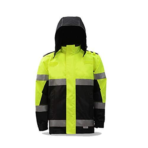 E Viaggi Dqmsb Black Per colore Attività All'aperto Impermeabile Xl Riutilizzabile Yellow Dimensioni Riflettente Fluorescente Black Greenish Impermeabile nqRxO0qYr