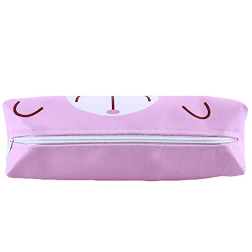 LZIYAN Pencil Cases Cartoon Owl Pink Animal Pencil Bag Waterproof Stationery Bag Multifunction Storage Bag Student Supplies,Pink pig by LZIYAN (Image #3)