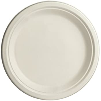 Brheez 7 inch Heavy Duty Plates 100% Natural Sugarcane Biodegradable Compostable Bagasse Eco-  sc 1 st  Amazon.com & Amazon.com: Brheez 7 inch Heavy Duty Plates 100% Natural Sugarcane ...