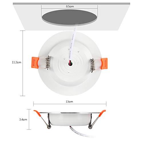Amazon.com: Sensor de movimiento de luz de techo 9 W LED de ...