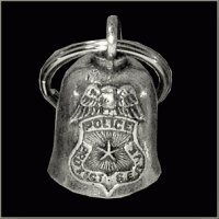 Police Motorcycle Accessories - POLICE Gremlin Bell Guardian Biker Harley Motorcycle Good Luck Charm