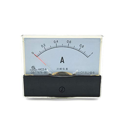 DC 0-1A Measuring Range Fine Tuning Dial Panel 44C2 Vertical Installation Ammeter Analog Current Test Meter