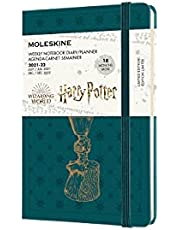 Moleskine Limited Edition 18 Month Harry Potter Weekly Planner, Hard Cover, Pocket (3.5 x 5.5), Tide Green