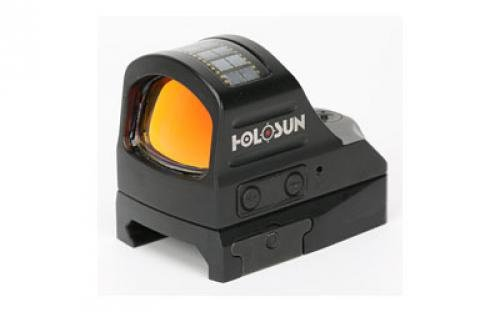 HOLOSUN Reflex Sight 1X Selectable Reticle Weaver-Style Mount Solar/Battery Powered Matte