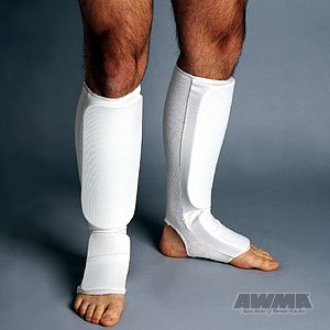ProForce Combination Cloth Shin / Instep Guards - White - Child - Protector Instep Shin