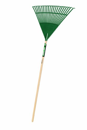 Truper 30456 Tru Tough 48-Inch Plastic Leaf Rake, 22-Inch Head, Wood (Poly Lawn Rake)