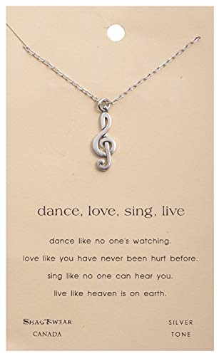 (Shag Wear Dream and Music Inspirations Quote Pendant Necklace (Music Dance Pendant))