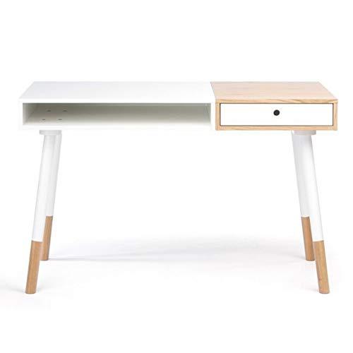 Paris Prix - Escritorio Design Sonnenblick 120 cm Color Blanco ...