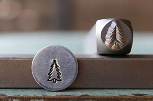 (6mm Pine Tree Metal Punch Design Jewelry)