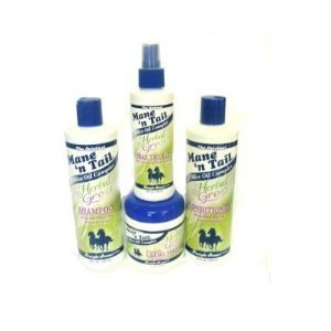 Mane 'n Tail Herbal Gro 4 pc Shampoo Kit (Mane N Tail Spray)