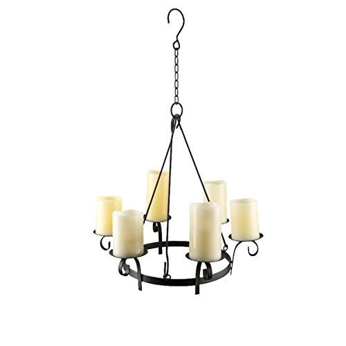 Outdoor chandelier amazon wrought iron hanging gazebo candelabra outdoor patio lighting aloadofball Image collections